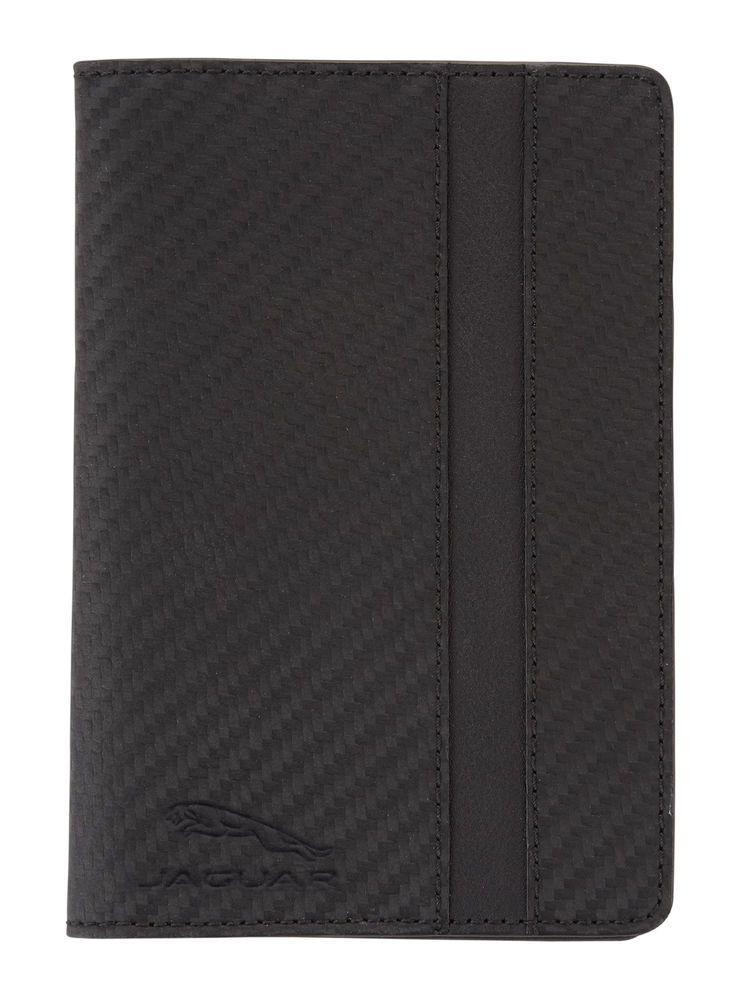 Porte-passeport en cuir - Noir