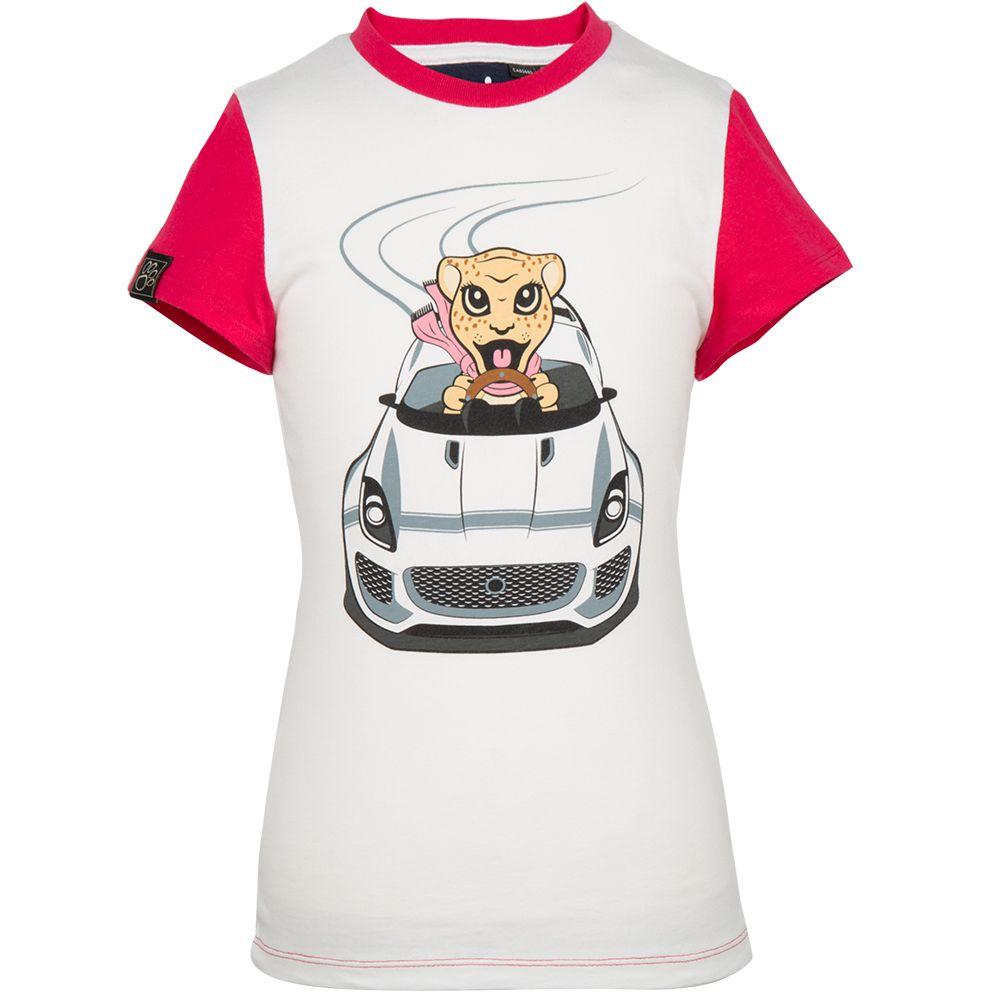 T-shirt graphisme voiture Jaguar pour fille