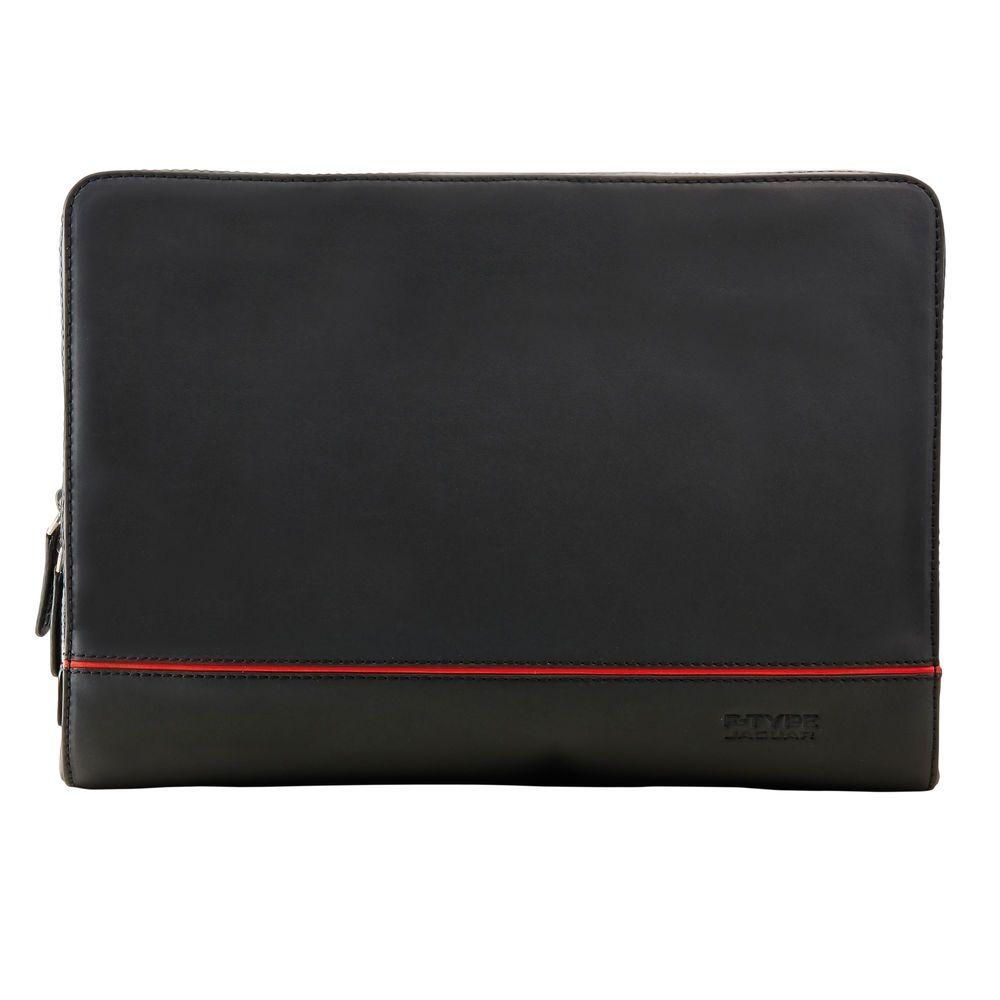 Leather F-Type Portfolio - Black